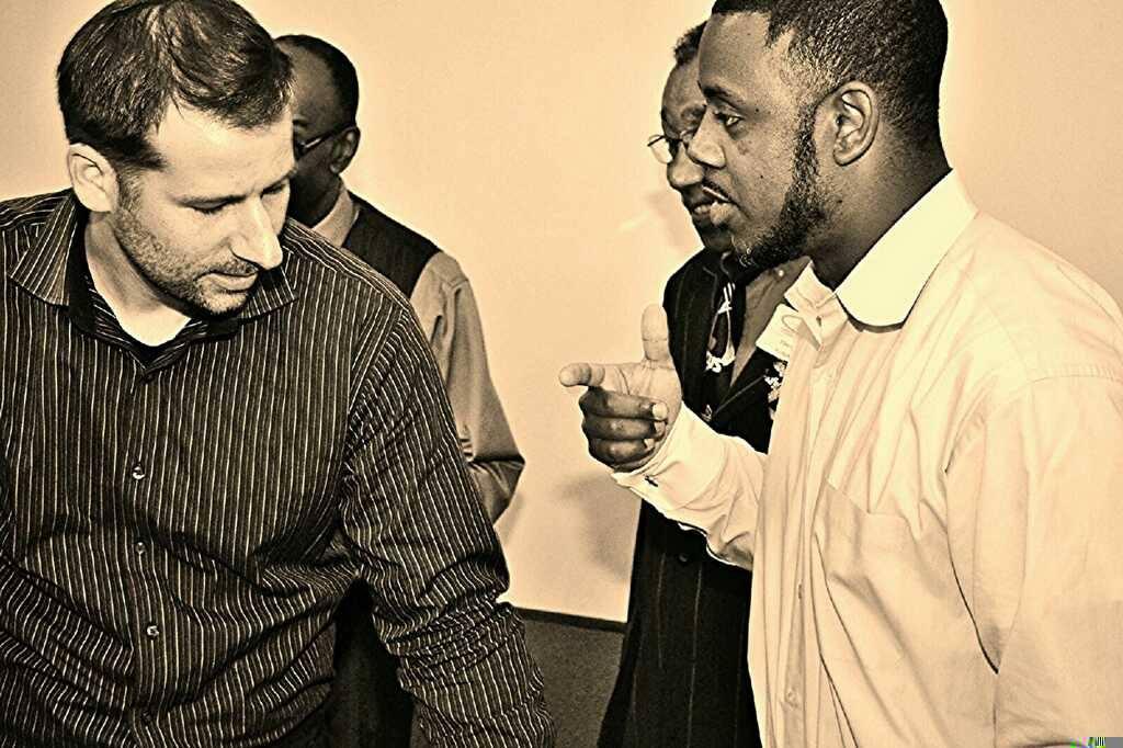 Ryan Flanders and Chris McGill at Grace Baptist Community Church